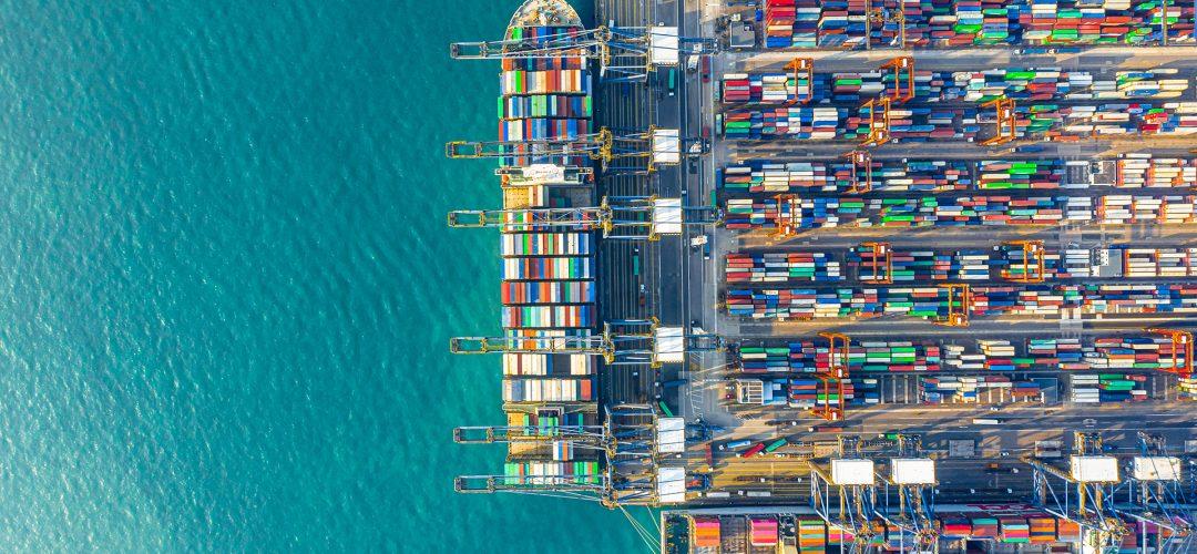 Container Cargo freight ship Terminal in Hong kong