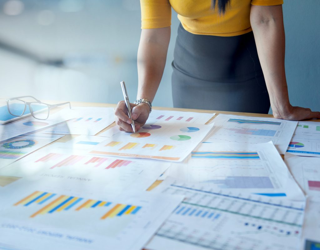 Female Accountant or Marketing Check documents from the accounting department to analyze marketing statistics to report to the chief for strategic planning and business competition.