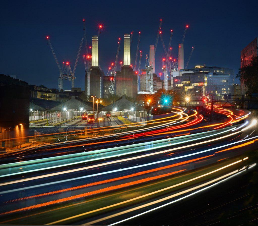 London Battersea and railway